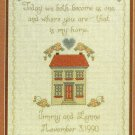 PDF FILE Wedding Sampler Cross Stitch Pattern ChartToday we become as one