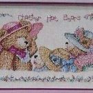 PDF FILE Chatter Hat Bears, CROSS STITCH PATTERN, 3 Elegant Teddy Bears In Beautiful Hats