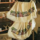PDF FILE ONLY COUNTRY VILLAGE AFGHAN  CROSS STITH PATTERN