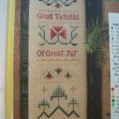 PDF FILE ONLY Colonial Christmas Welcome  Cross Stitch PATTERN