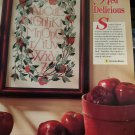 PDF FILE  RED DELICIOUS VINTAGE CROSS STITCH PATTERN