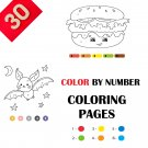 30 Color By Numbers Coloring Pages for Kids Vol 2