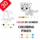 30 Color By Numbers Coloring Pages for Kids Vol 1