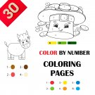 30 Color By Numbers Coloring Pages for Kids Vol 3