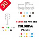 30 Color By Numbers Coloring Pages for Kids Vol 4
