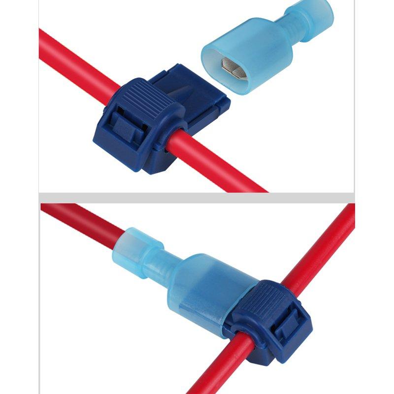20/40Pcs T-Tap Wire Connectors Quick Electrical Cable Connectors Snap Splice