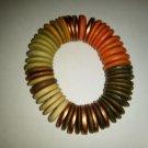 Vintage strung stretch bracelet - Rare c.1970s Possibly cork.