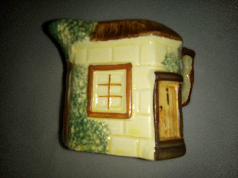 Keele St. Pottery Milk Jug Hand Painted Cottage House c.1950s