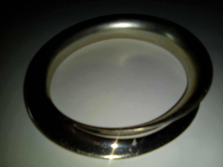 Silver metal bangle - Rare c.1970s No visible hallmark