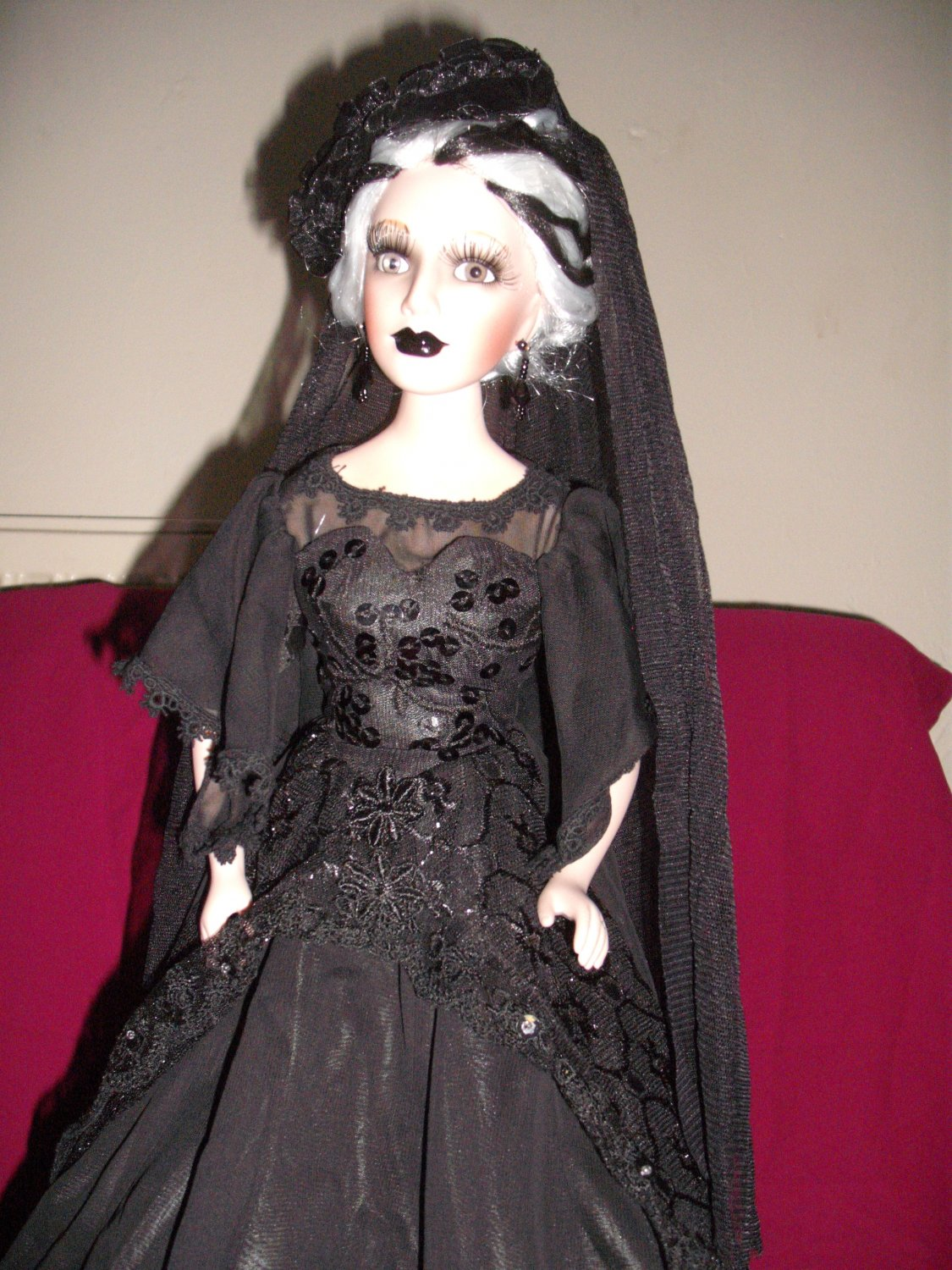 Ceramic 19inch Gothic Doll from Vixens of the Underworld