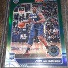 2019/2020 Zion Williamson NBA Hoops Premium Stock Green Prizm Rookie