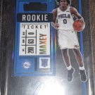 2020/2021 Panini Contenders Tyrese Maxey RC Rookie Clear Ticket SSP