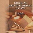 Critical and Historical Essays by Thomas Babington Macaulay