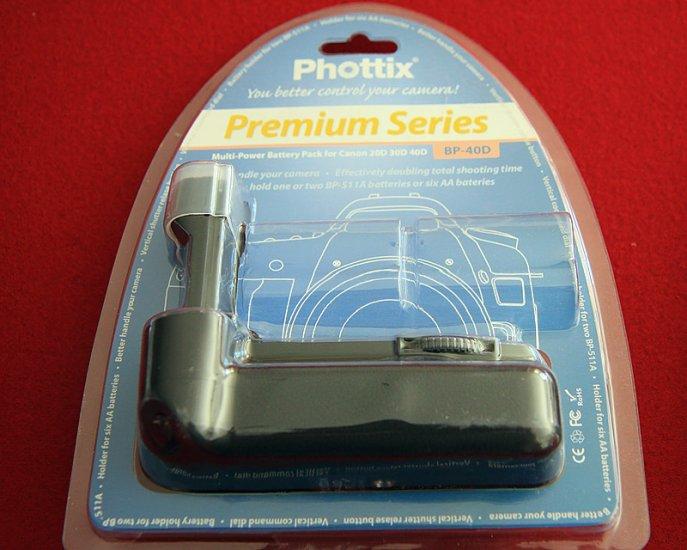 Phottix BP-40D (BG-E2) Battery Grip for Canon 20D/30D/40D/50D