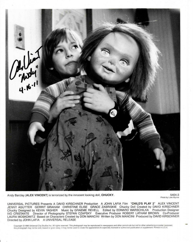 Alex Vincent 8 x 10 Autographed Photo (Reprint 0003)