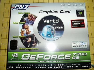 NEW PNY GeForce 7300GS 256Mb DDR2 PCIe Video Card