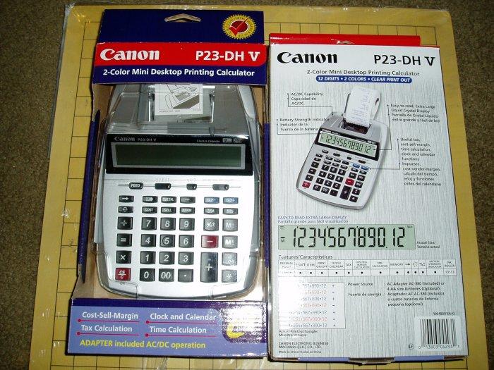 Canon P23-DH V Portable Printing Calculator