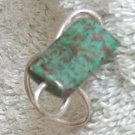 silver, turquoise sculpted ring