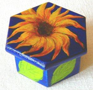 yellow sunflower jewelry box