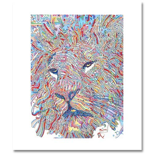 Tete De Lion is a LIMITED EDITION GICLEE on Canvas by Guillaime Azoulay