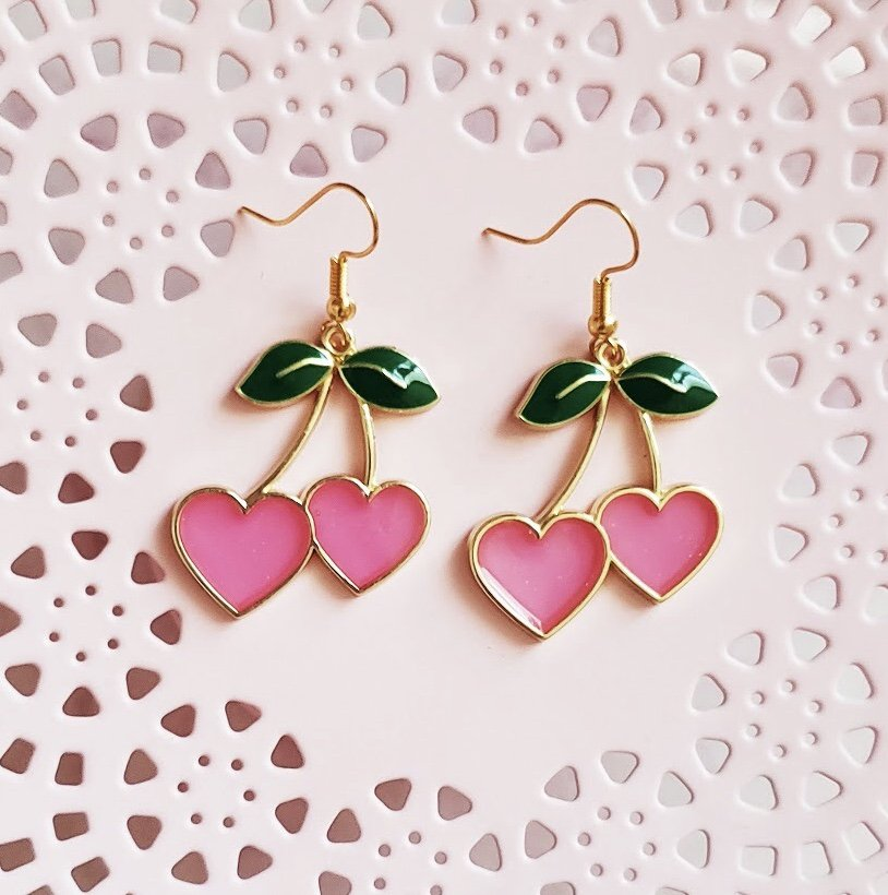 Cherry earrings, kawaii earrings