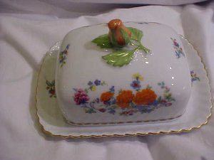 Kaiser China West Germany Covered Butter or Cheese Dish