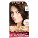 2X LOreal Paris Excellence Creme Permanent Hair Color, #4 Dark Brown