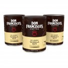 3X Don Francisco's Vanilla Nut Flavored Ground Coffee 12 ounces