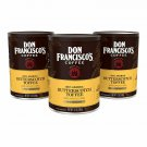 3X DON FRANCISCO'S Butterscotch Toffee GROUND COFFEE 12 ounces