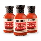 Miller's Habanero Mustard, 9.5 Ounce (Pack of 3)