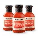 Miller's Hot Mustard, 9.5 Ounce (Pack of 3)