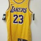 NIKE NBA authentic L A Lakers swingman jersey LeBron James gold size M 44