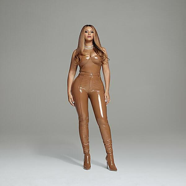 ADIDAS X IVY PARK latex pants wild brown size 36 usS uk10