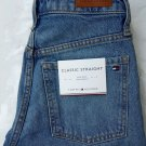 Tommy hilfiger women's classic straight fit jeans high waist crop ela size w24