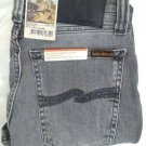Nudie jeans Skinny lin grey wolf unisex organic mid rise tight fit