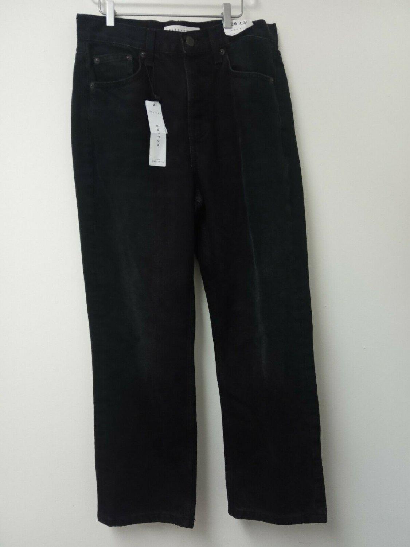 Topshop editor women's jeans black organic denim size 26W 30L
