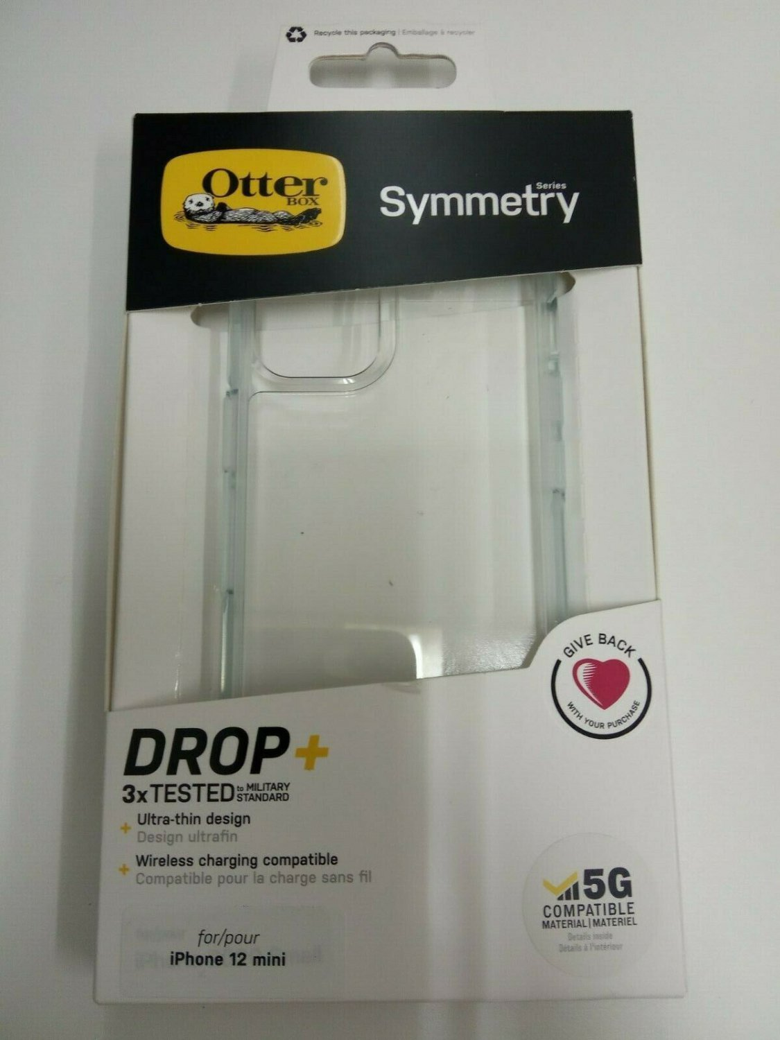 otterbox symmetry case for iphone 12 mini clear