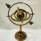 "12"" Brass Armillary Sphere with Arrow Nautical Maritime Astrolabe Globe Decor"