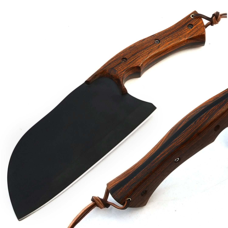 Handmade D2 Steel Powder Coated Blade Cleaver Chopper Chef Kitchen Knife