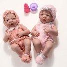 New Baby Dolls Reborn Babe Vinyl Silicone Full Body Lifelike Newborn Doll Kids