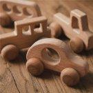 Wooden Toys Wood Car Blocks Cartoon Educational Toy Wood Toy Baby Educational