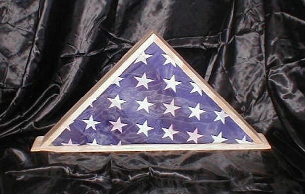 New Cherry 9 X 5 Burial Memorial Flag Display Case