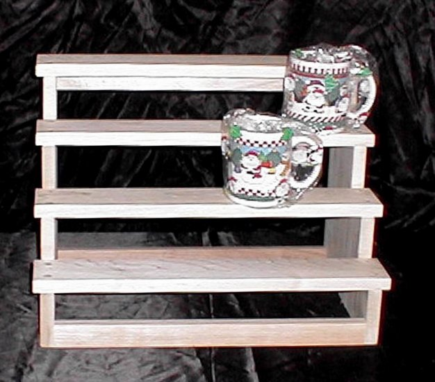 NEW Maple Wood StairCase SpaceSaver Display Shelf Curio