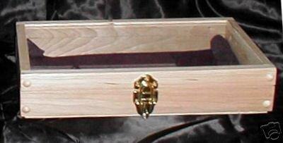 New Maple Wood 15 X 9 Pistol Display Case knife Jewelry