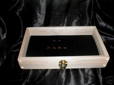 New Maple Wood Jewelry  Ring Display Case for 7½x14 Inserts