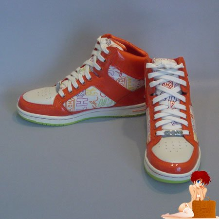 New Authentic Coach Signature High Top Norra Graffiti Orange Sneakers Shoes 8