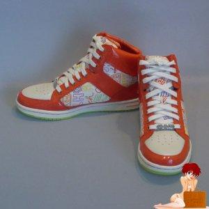 New Authentic Coach Signature High Top Norra Graffiti Orange Sneakers Shoes 8