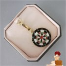 New Authentic Boxed Juicy Couture Dartboard Love Heart Bulls-eye Charm Gold Dart