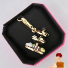 New Authentic Boxed 2012 Juciy Couture Tray of Desserts Charm Gold YJRU5892 $58