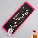New Authentic Boxed Juicy Couture Open Link DIY Bracelet for Mini Charms Silver